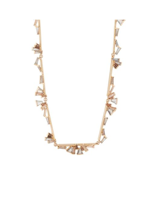 Nak Armstrong - Metallic Ruffle Bar Necklace - Lyst
