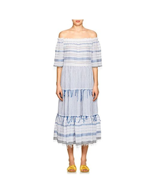 Lemlem - Blue Tiki Striped Cotton Maxi Dress - Lyst
