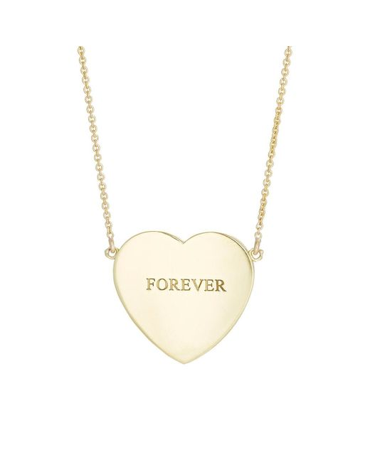 Jennifer Meyer - Metallic Heart Pendant Necklace - Lyst