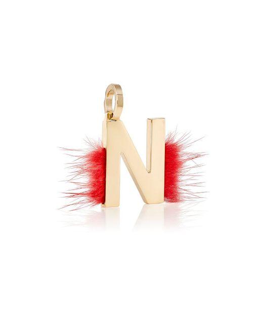 Fendi | Metallic Abclick N Bag Charm | Lyst
