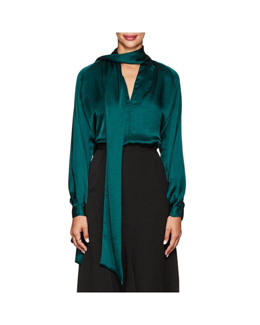 Juan Carlos Obando - Green Washed Satin Blouse - Lyst