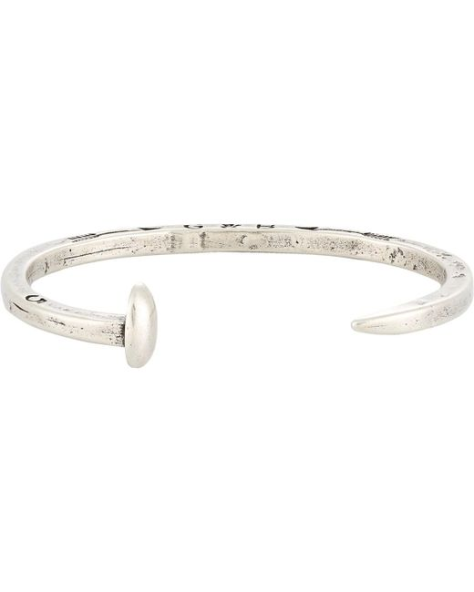 Giles & Brother - Metallic Skinny Railroad Spike Cuff for Men - Lyst