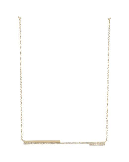 Monique Péan | Metallic Diamond & Gold Blueprint Bar Pendant Necklace | Lyst
