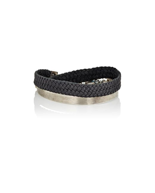 Title Of Work | Black Bit Cuff Bracelet for Men | Lyst