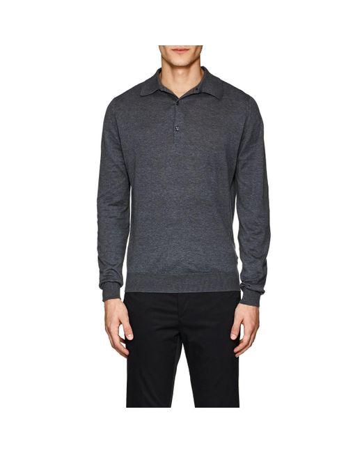 07d9b6c9 ... John Smedley - Gray Bradwell Cotton Polo Shirt for Men - Lyst