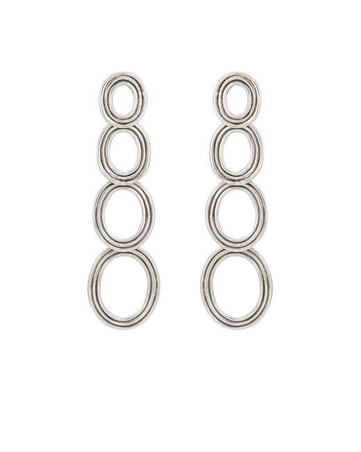 Pamela Love - Metallic Four Circle Drop Earrings - Lyst