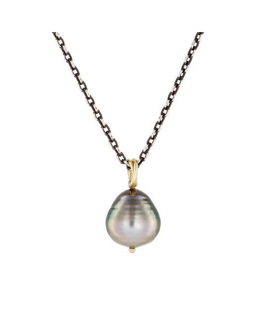 Dean Harris - Gray Baroque Pearl Pendant Necklace for Men - Lyst