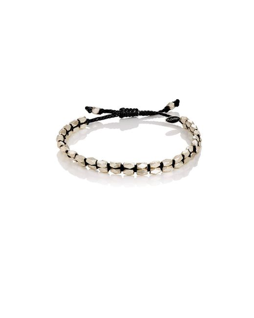 M. Cohen | Black Beaded Waxed Cord Bracelet | Lyst