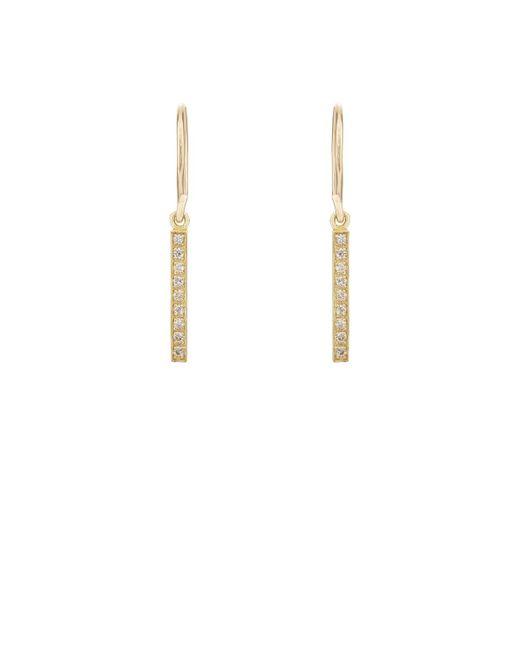 Jennifer Meyer | Metallic Long Bar Drop Earrings | Lyst