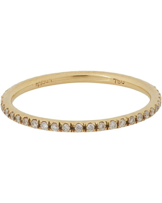 Ileana Makri - Metallic Diamond & Gold Eternity Band - Lyst