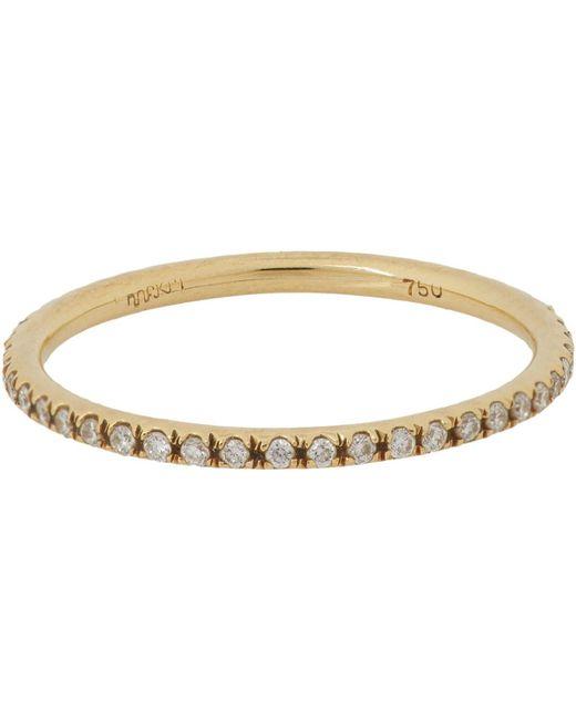 Ileana Makri - White Diamond & Gold Eternity Band Size 5.5 - Lyst
