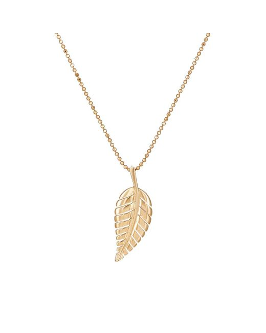 Jennifer Meyer | Metallic Leaf Pendant Necklace | Lyst
