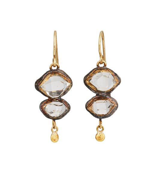 Judy Geib - Metallic Herkimer Diamond Double - Lyst