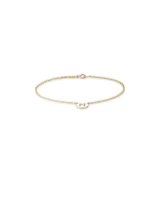 Jennifer Meyer | Metallic Initial m Disc Bracelet | Lyst
