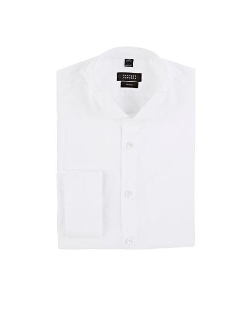 Barneys New York - White Hairline Piqué Tuxedo Shirt for Men - Lyst