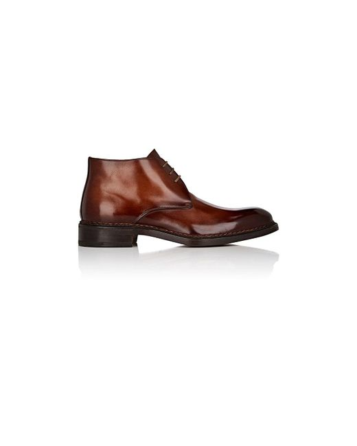 Fratelli Giacometti | Brown Burnished Leather Chukka Boots for Men | Lyst