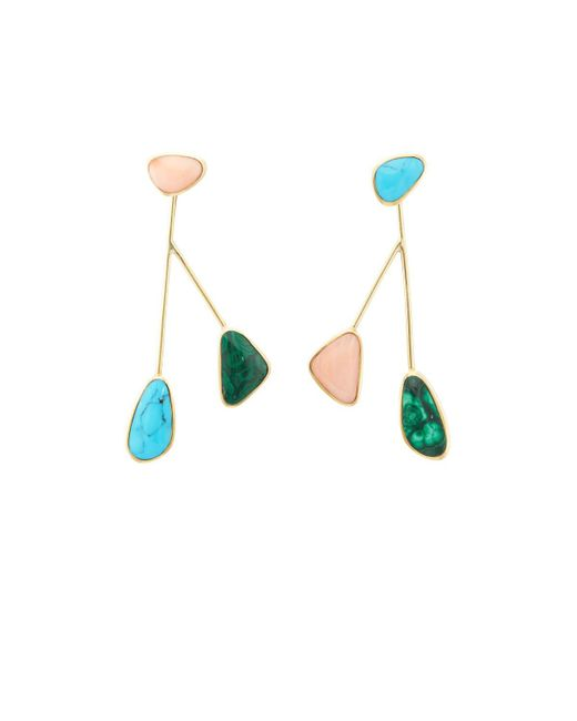 Pamela Love - Multicolor Mismatched Satellite Drop Earrings - Lyst