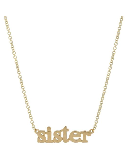 Jennifer Meyer | Metallic sister Pendant Necklace | Lyst