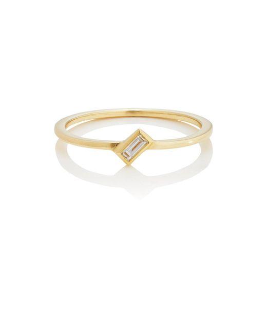 Ileana Makri - Metallic Baguette White Diamond Ring - Lyst