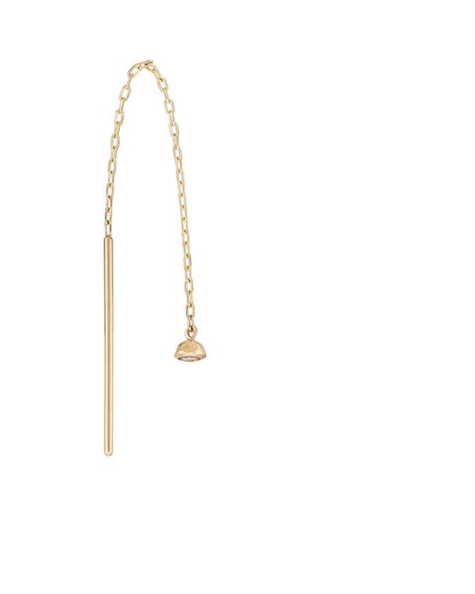 Hirotaka - Metallic White Diamond Chain Earring - Lyst