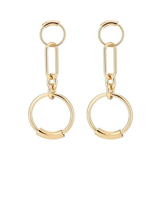 Chloé - Metallic Interlocking Hoop Earrings - Lyst