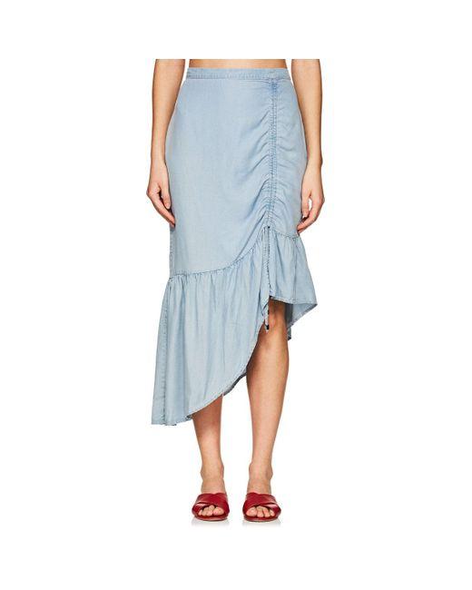 Suboo - Blue Stand Still Chambray Asymmetric Skirt - Lyst