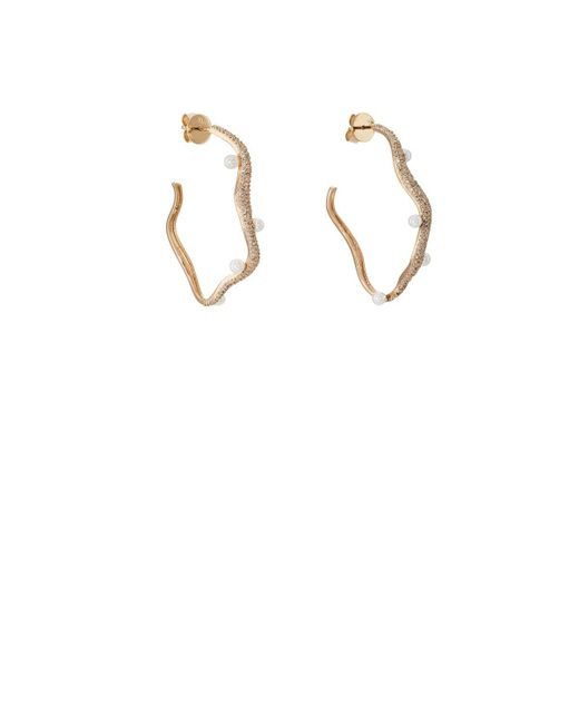 Ileana Makri - Metallic Y-d-pearl Earrings - Lyst