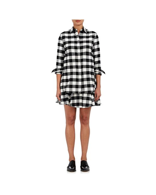 10 Crosby Derek Lam - Black Checked Flannel Shirtdress - Lyst