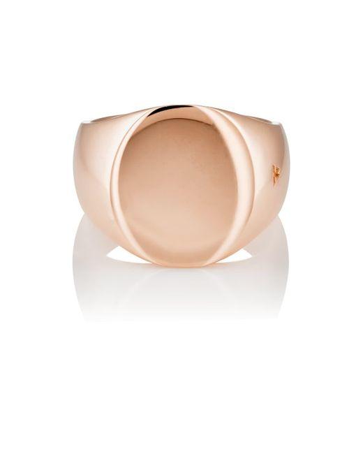 Tom Wood - Metallic Rose Gold Signet Ring - Lyst