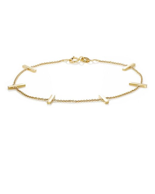 Jennifer Meyer | Metallic Bar Charm Bracelet | Lyst