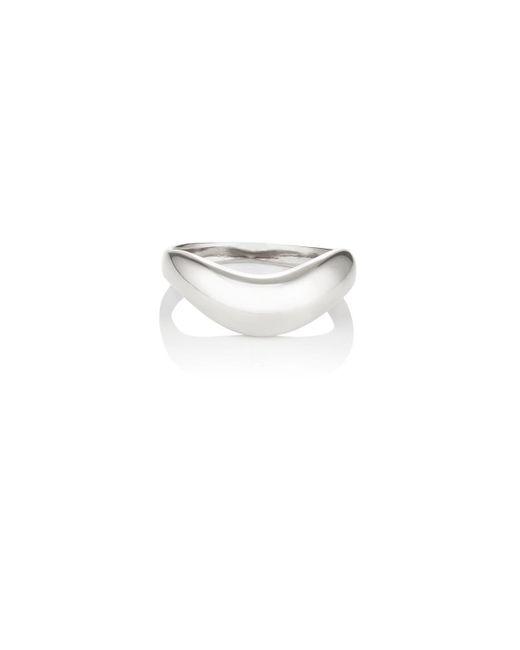 Agmes | Metallic Wave Ring | Lyst