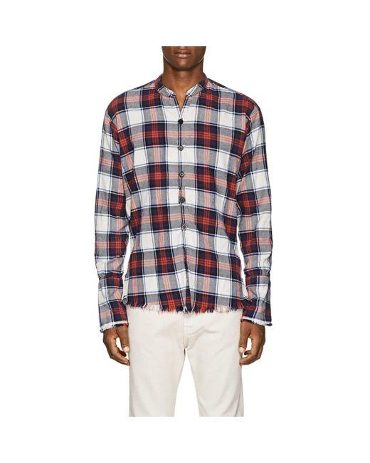 Greg Lauren - Multicolor Plaid Cotton Flannel Studio Shirt Size 2 for Men - Lyst