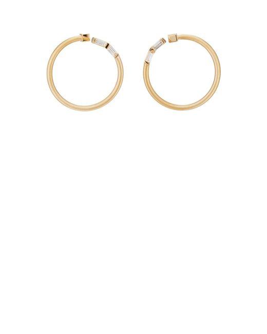 Nak Armstrong - Metallic Bezel Bypass Hoop Earrings - Lyst