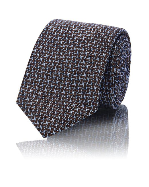 Barneys New York - Brown Silk for Men - Lyst