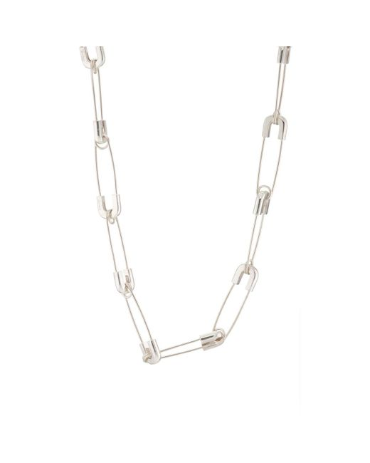 Ambush - Metallic Safety Pin Necklace - Lyst