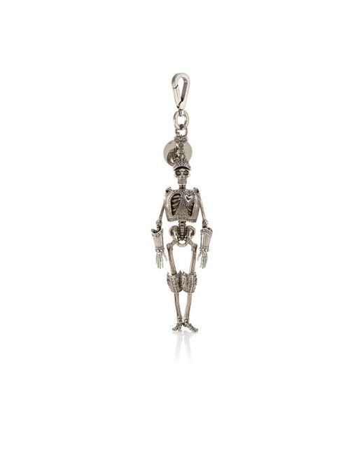 Alexander McQueen | Metallic Armored Skeleton Key Chain | Lyst