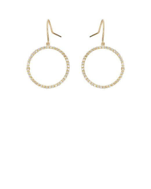 Jennifer Meyer | Metallic White Diamond Open Circle Earrings | Lyst