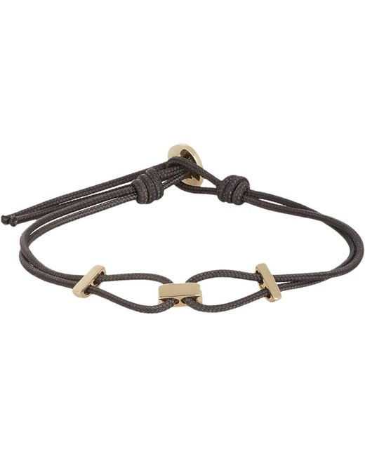 Zadeh - Metallic Gold & Parachute Cord Bracelet for Men - Lyst