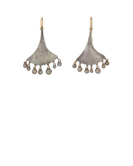 Judy Geib - Yellow Fan Drop Earrings - Lyst