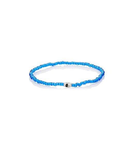 Luis Morais - Blue Palm Tree Etched-bead Bracelet for Men - Lyst