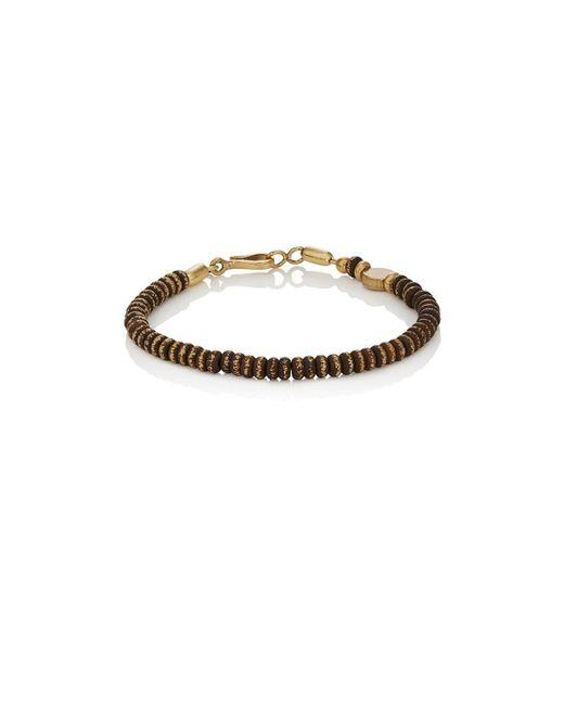 Caputo & Co. | Metallic Distressed Brass Beaded Bracelet | Lyst