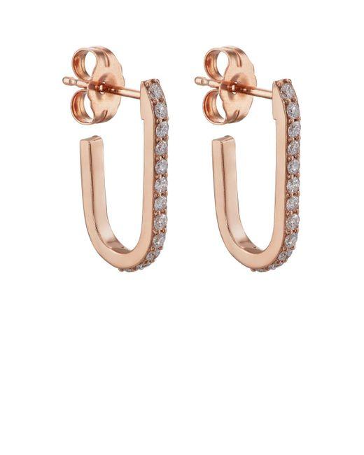 Carbon & Hyde - Metallic Mini Pin Hoop Earrings - Lyst