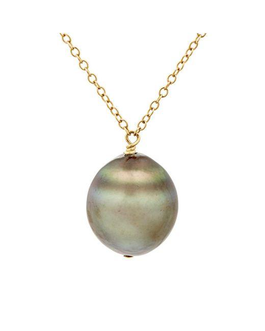 Samira 13 | Metallic Tahitian Pearl Necklace | Lyst