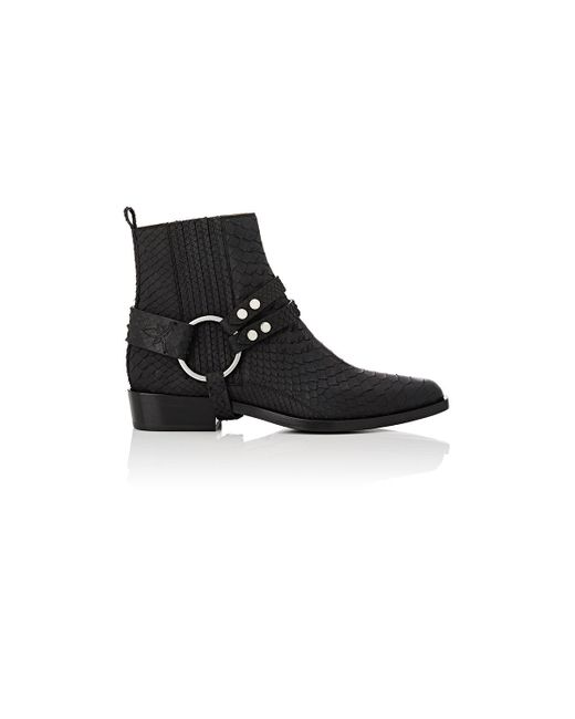 Sartore | Black Harness Python Ankle Boots | Lyst