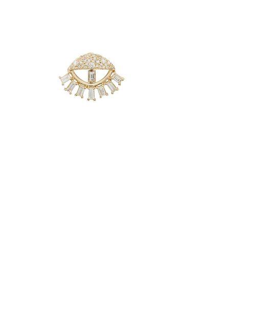 Ileana Makri | White Sleepy Eye Stud Earring | Lyst