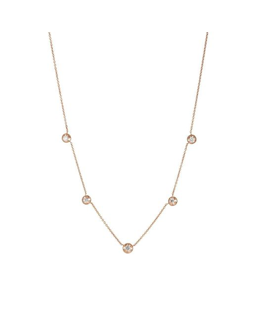 Carbon & Hyde - Metallic Rose Necklace - Lyst