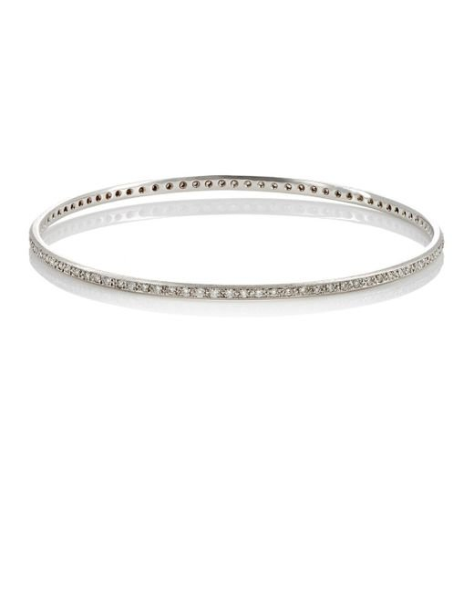 Irene Neuwirth | Metallic White Diamond Bangle | Lyst