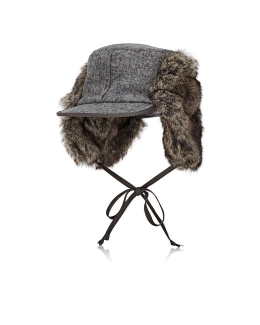 Lola Hats - Gray Woodsman Wool Trapper Hat - Lyst