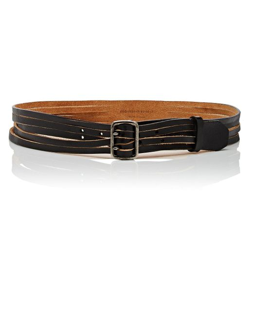 Saint Laurent - Black Aviator Leather Belt - Lyst