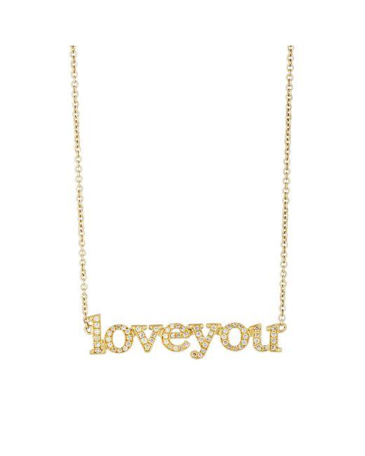 Jennifer Meyer | Metallic love You Pendant Necklace | Lyst